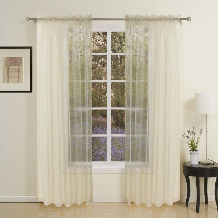 Modern Beige Polyester Sheer Curtain   #curtains #decor #homedecor #homeinterior #beige