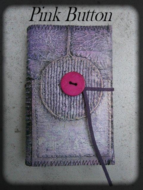Pink Button      8 X 12 cm