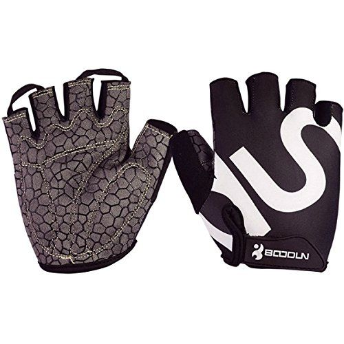 BOODUN Unisex Cycling Gloves BlackWhite XXLarge * Details can be found by clicking on the image.