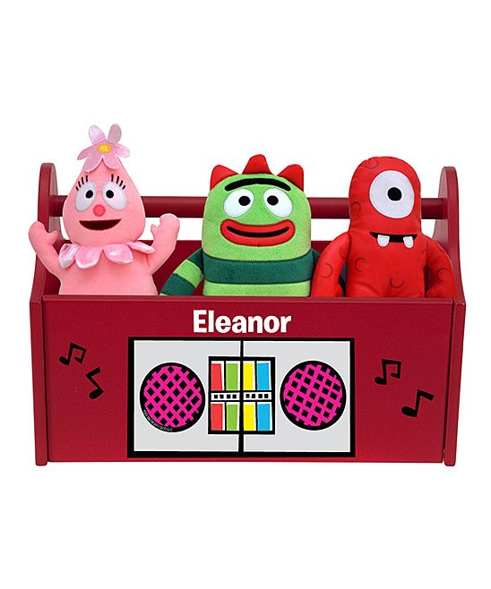 17 best ideas about personalized toy box on pinterest toy chest toy boxes and wood toy chest - Yo gabba gabba bedroom decor ...