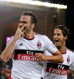 Pazzini & Antonini. AC Milan.