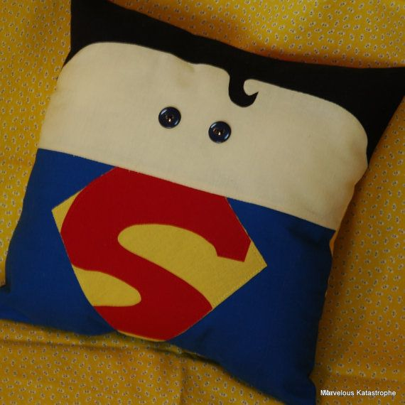 Superman Inspired Decorative Pillow on Etsy, $24.00