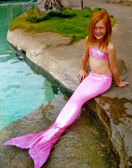Girls swimable mermaid tails with removable monofin!  QUALITY and CUSTOM! on Etsy, $110.00