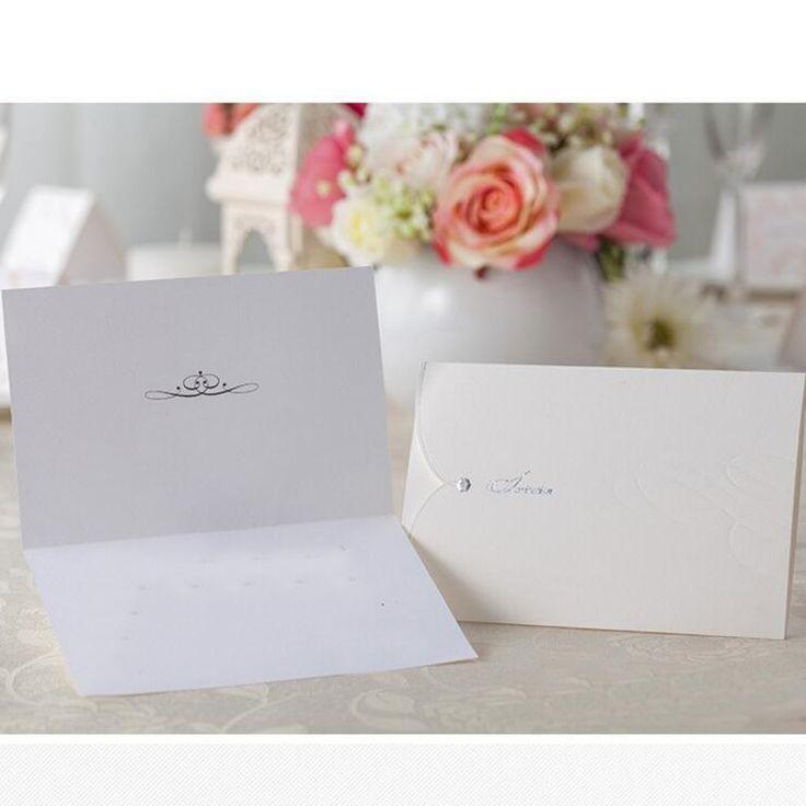 free online muslim wedding invitation cards%0A  Free Shipping  Buy Best   pcs pack White Envelope Shape Wedding