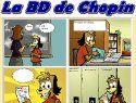 Dans cette section du site d'Allô prof, les élèves peuvent créer une bande dessinée de 4 vignettes relatant les aventures de Chopin le chien.