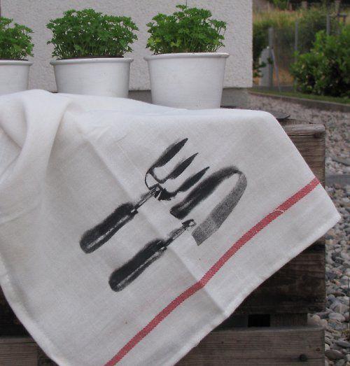Letní utěrka na grilování, zahradu, piknik ...