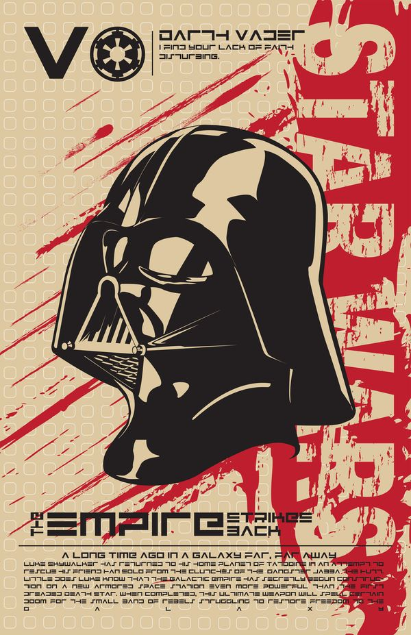 Darth Vader - Star Wars Poster Series by Kegan Rivers, via Behance