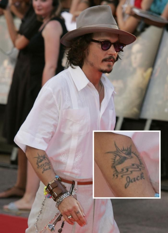 Johnny Depp's Jack Sparrow tattoo. So getting this tattoo