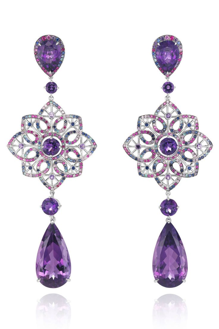 Bling Ring: Chopard At Cannes Purple Earringsdiamond