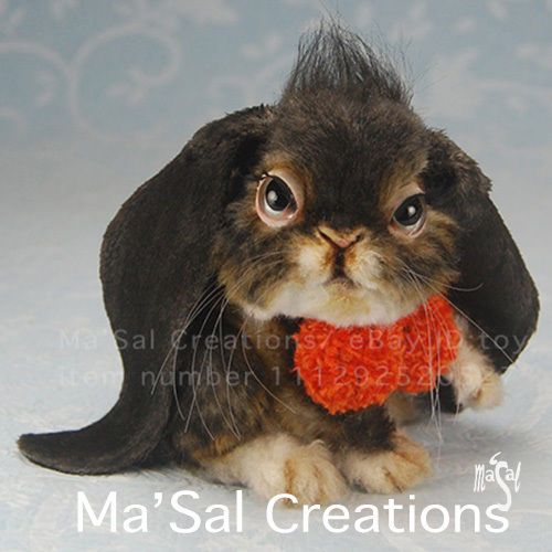Ma'Sal original / Special Dolly Friend series - Miniature Lop Eared Rabbit OOAK