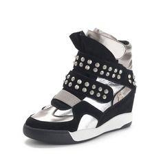 Schoenen - $78.99 - Echt leer Low Heel Enkel Laarzen met Klinknagel schoenen  http://www.dressfirst.com/nl/Echt-Leer-Low-Heel-Enkel-Laarzen-Met-Klinknagel-Schoenen-086057527-g57527