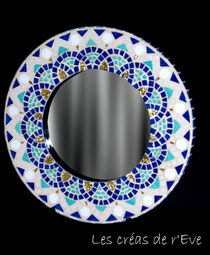 Miroir mosaïque style mauresque
