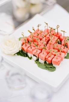 watermelon and feta skewers - Katie Stoops Photography // Bellwether Events