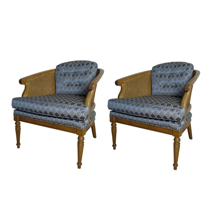 Louis XVI Style Upholstered Arm Chairs : EBTH