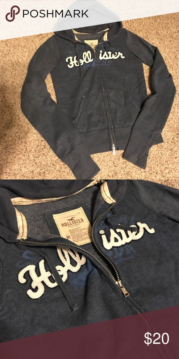 Hollister full zip hoodie Great condition. Size medium but fits like an xs/s Hollister Tops Sweatshirts & Hoodies