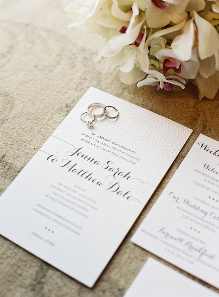 Simple elegant letterpress wedding invitations (Virgil Bunao)