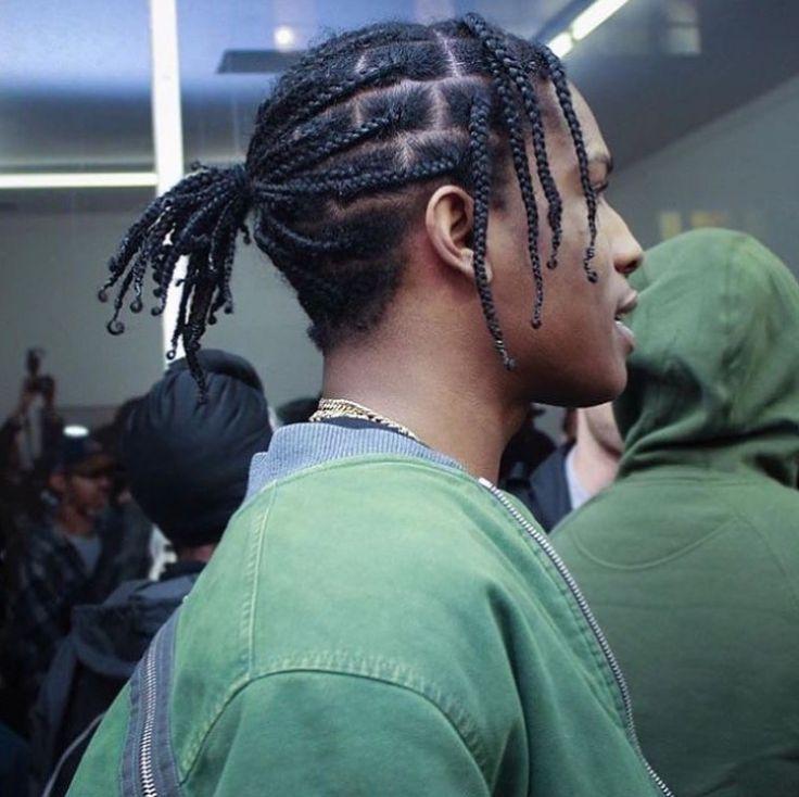 Asap Rocky Asap Rocky Asap Rocky Cabelo Com Tranca Cabelo Trancado Masculino Penteados De Cabelo Encaracolados Para Homens