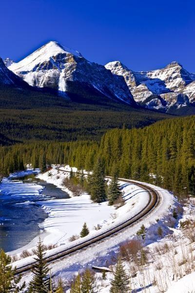 Canadian Rockies winter scenery | ***WINTER*** | Pinterest ...