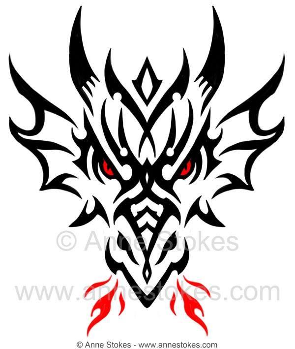 Tribal Dragon Head By Anne Stokes Artist Anne Stokes Tattoos