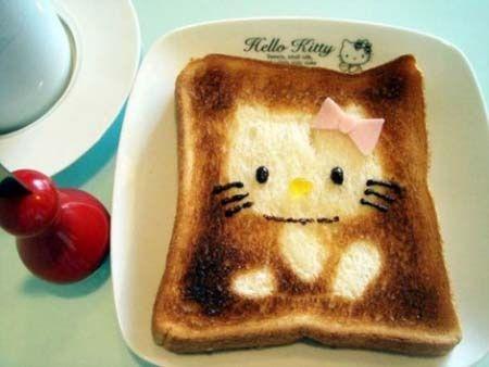 Die gekke Japanners toch. Schattige kunst op geroosterd brood is een nieuwe culinaire hype aldaar. Maar in tegenstelling tot de traditionele kunsten komen er bij toast kunst geen verfkwasten, stiften of andere niet-eetbare zaken aan te pas.