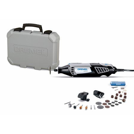 Dremel 4000-2/30 Series RT, Storage Case, Circle Cutter Attachment, Sanding/Grinding Attachment and 30 Assorted Accessories, Multicolor