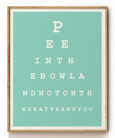 Love this Eye Chart Print on #zulily! #zulilyfinds