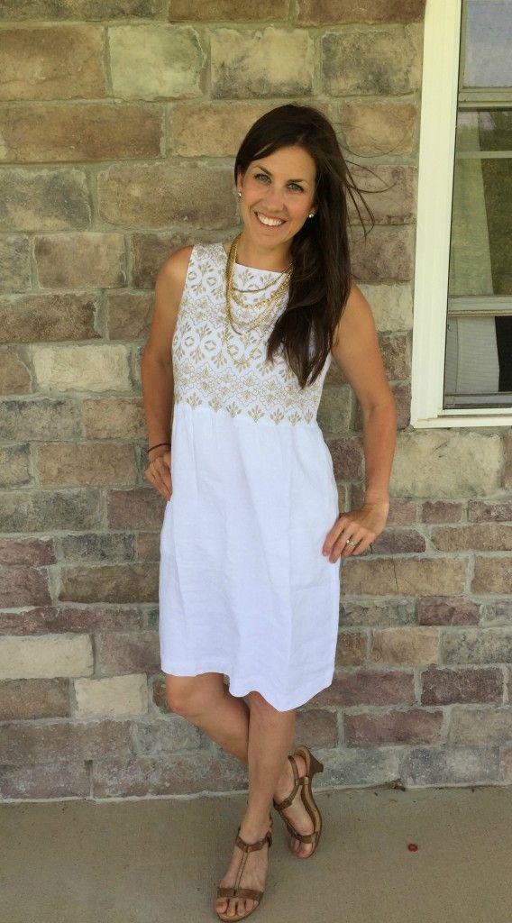 J jill white dress online
