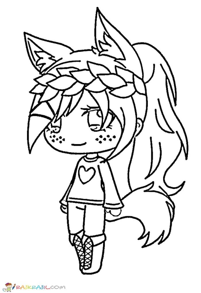 Pin By Amyliah Meii On Gacha Life Anime Wolf Girl Chibi Coloring Pages Coloring Pages