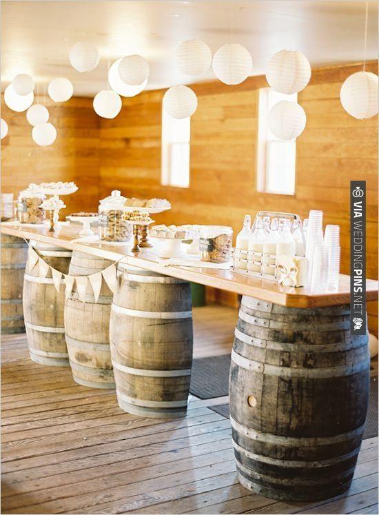 rustic yet elegant dessert station   VIA #WEDDINGPINS.NET