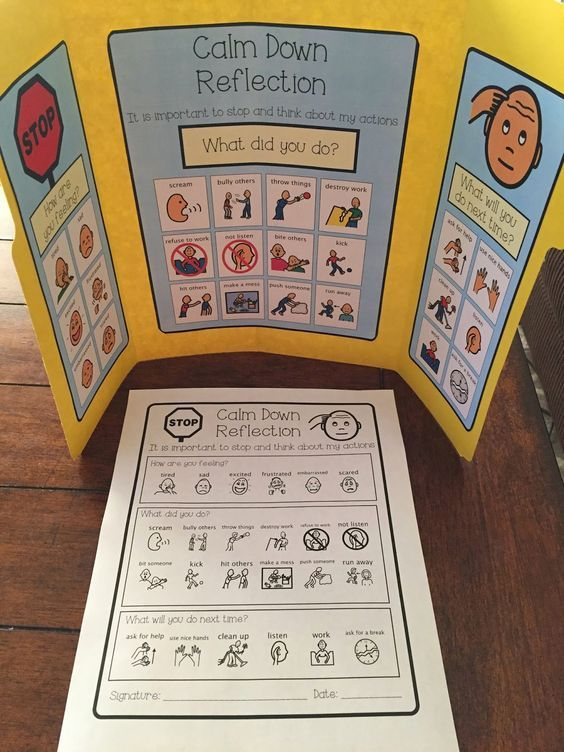 Calm Down Kit- behavioral and visual supports for students with special needs and autism. Calm Down Corner, Calm Down Area, Sensory Break