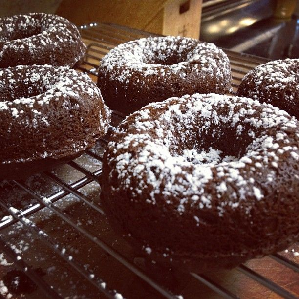 chocolate cake doughnuts donut decorations baked donuts tea cakes ...