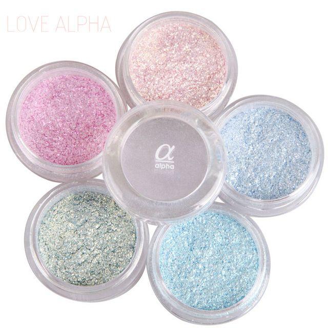 AMOR ALFA 13 Colores Sombra de Ojos En Polvo de Destello Brillante Estupenda Perla Brillante Brillante Glitter Powder Pink Diamond Marca de Maquillaje