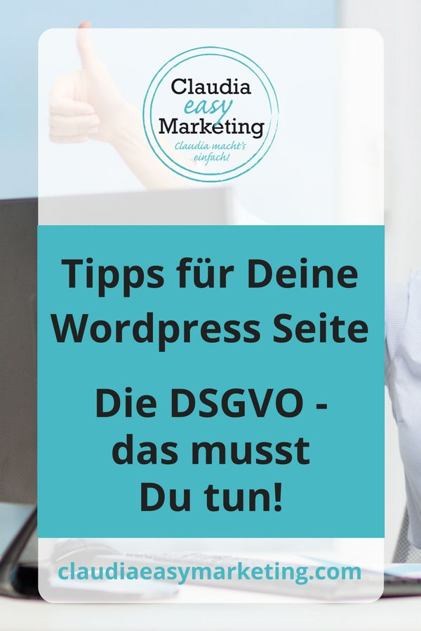 9 Tipps, wie Du Deine Wordpress Webseite DSGVO bereit anpasst. #Website #DSGVO #Datenschutz #Wordpress #Tipps #Deutsch #Plugins #Impressum