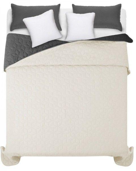 Bezovo siva presivana prikryvka na manzelsku postel (3)