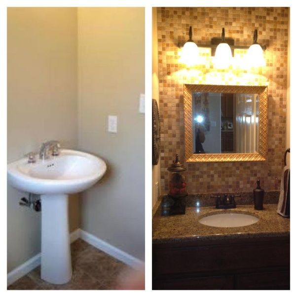pinterest inspired half bath remodel our half bath used to have a