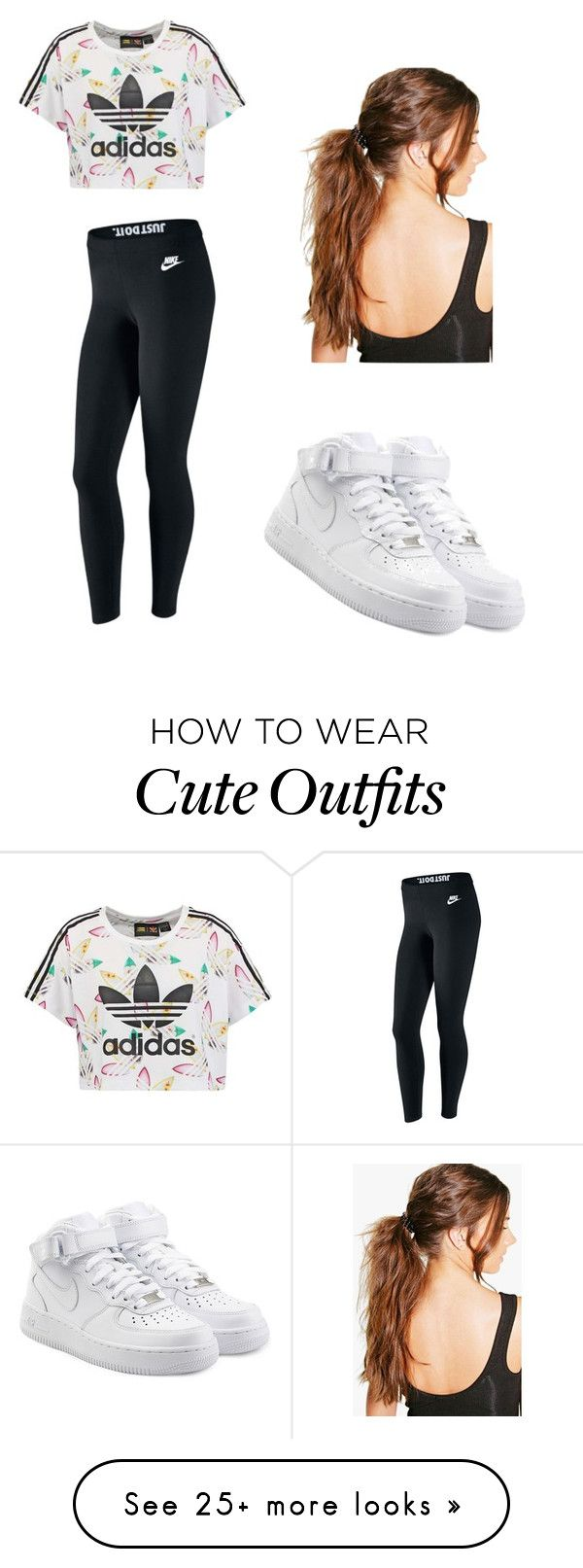 """""""Cute Girl Outfit"""" by gayguy20022016 on Polyvore featuring adidas Originals, NIKE and Boohoo"""