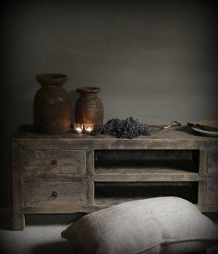 Donker houten Dressoir/TV kast