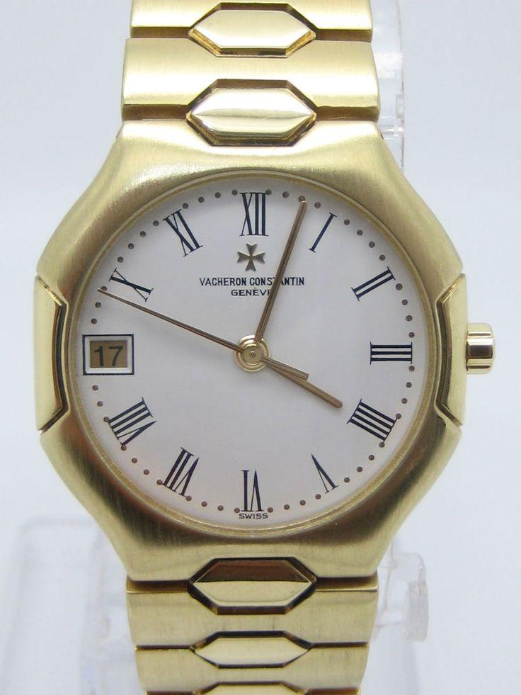 17 best images about pre owned mens watches rose details about vacheron constatin model 333 phidias yellow gold 18carat quartz used men watch