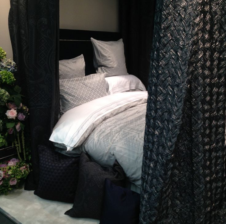 This comfy looking four poster bed is decadent and luxurious.