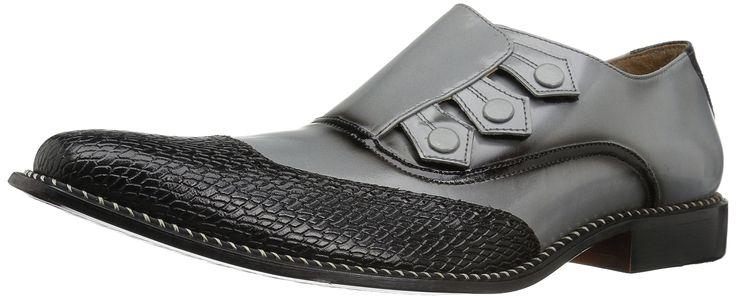Giorgio Brutini Men's Carver Slip-on Loafer, Black/Gray, 15 M US