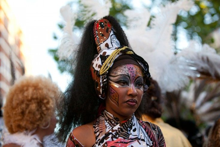 Afro-Uruguayan lady dancer in costume