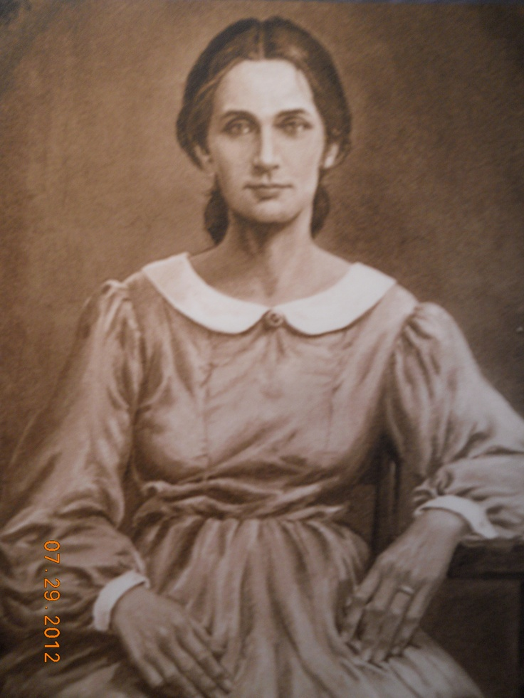 Nancy Hanks Lincoln, Abraham Lincoln's mother. - original pinner is a descendant of one of her brothers.