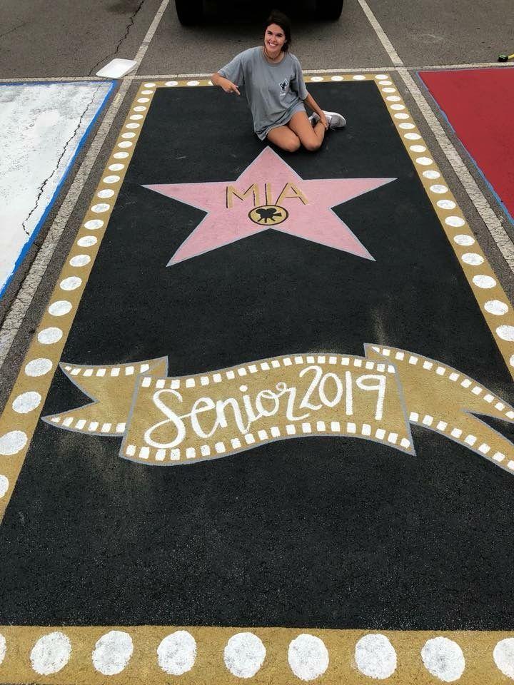 Senior parking spot. Hollywood walk of fame. Parking lot