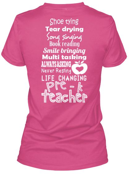 Pre-K Teacher List Shirts!