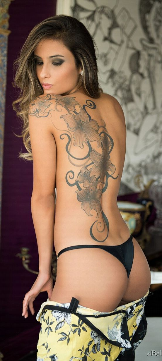✧☼✧ Gorgeous back piece - floral #tattoo ideas for women - #ink