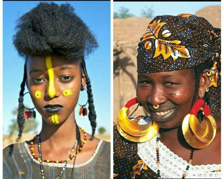 Fly to Mali and see what the Fulani tribe are up to. The Fulani women adorn themselves with all kinds of jewelry usually made out of gold or silver. As is true with most tribal African jewelry the tribe regards jewelry as a symbol of wealth and status. #tasanni #ethicalfashion #fashion #culture #jewelry #knowledge #traditions #madeinafrica #Mali #fulani #africanfashion