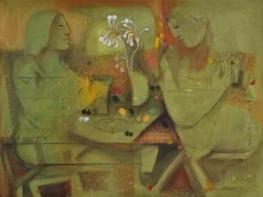 Question Mark & Inverted Commas #Painting By Madan Lal, #AcrylicOnCanvas, #IndianArt #IndianArtCollectors  #BuyArtOnline #ModernArt #Paintings