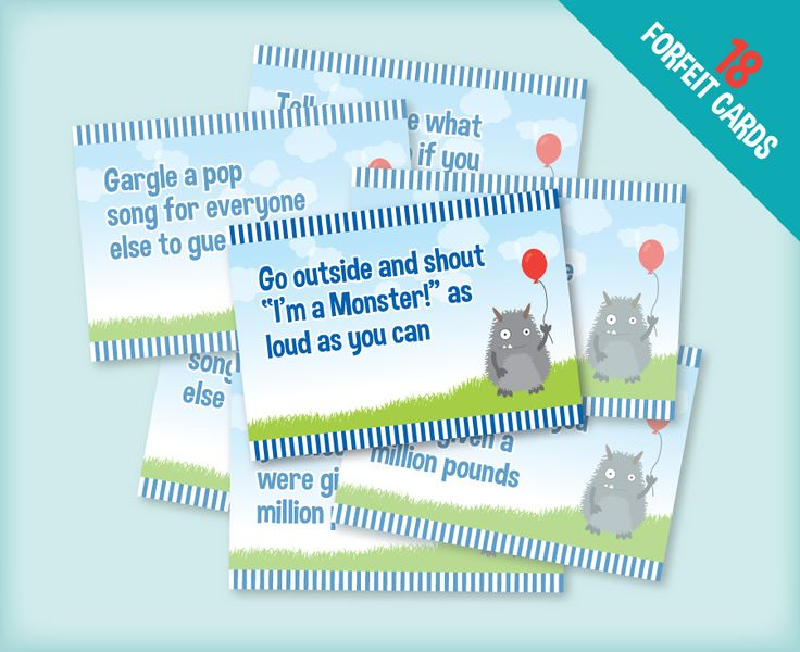 Monsters Forfeits Cards Jemma Pinterest Monsters