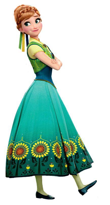 Anna de Frozen fever para imprimir , la nueva princesa disney junto a su hermana Elsa la reina de las nieves es la nueva princesa de disney...