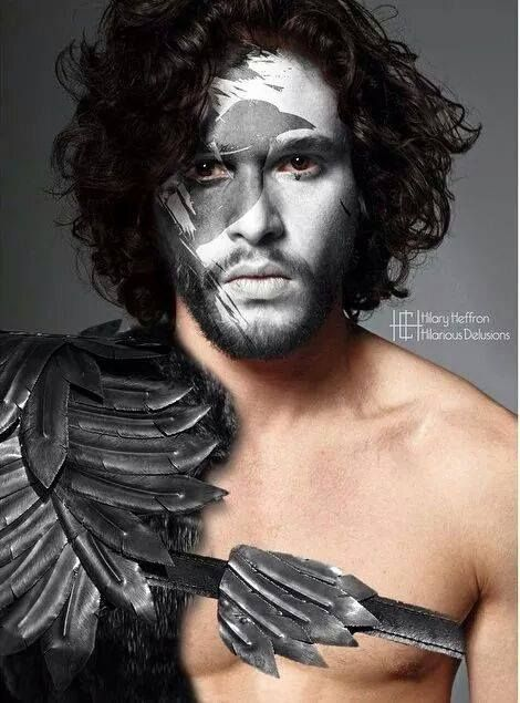 Jon Snow  | Game of Thrones War Paint by Hilary Heffron - Hilarious Delusions